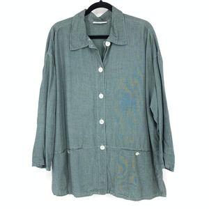 Bryn Walker Sz S Button Front Shirt Tencel